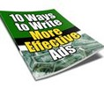 10 Ways to Write More Effective Ads with PLR