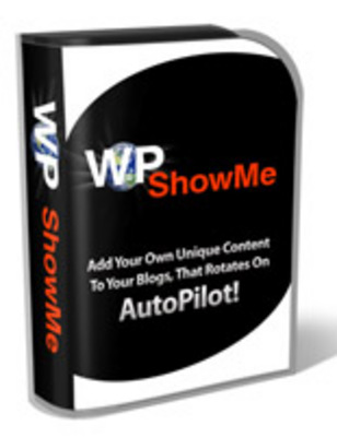 Product picture WP showme wordpress plugin with PLR