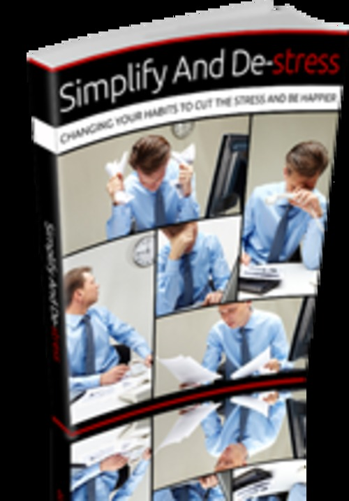 Product picture Simplify and Destress ebook with MRR