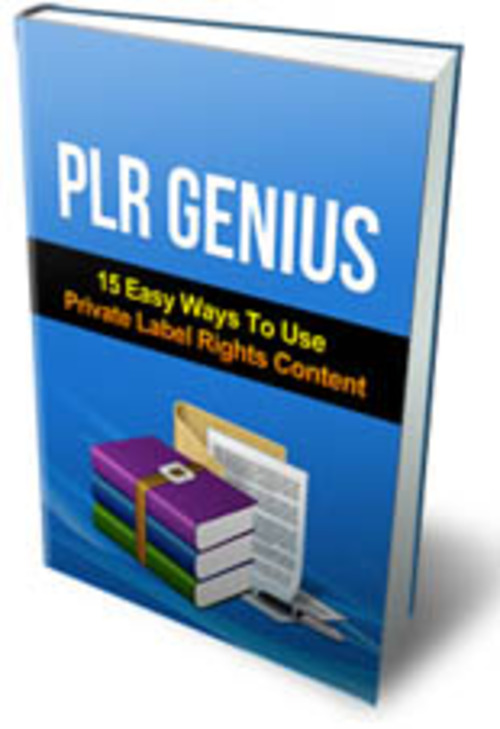 Product picture PLR Genius with MRR